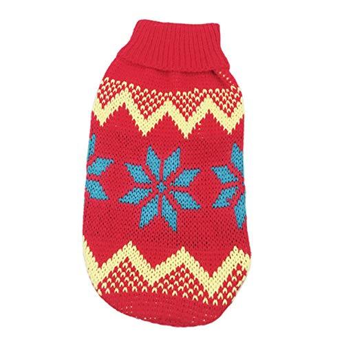 PONNMQ Dessin animé Mignon Petit Chien Pull Hiver vêtements Chauds pour Animaux de Compagnie pour Pulls Chihuahua Animaux Vêtements pour Chiens Chiot Costume Costume, 1,6