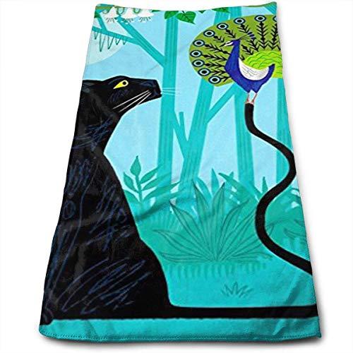 N/A De Pauw en de Panter Multi-Purpose Microfiber Handdoek Ultra Compact Super Absorbens en Sneldrogende Sporthanddoek Reishanddoek Strandhanddoek Perfect voor Camping, Gym, Zwemmen.