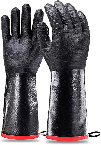 Heat Resistant-Smoker BBQ Gloves 17 Inches,932℉, Grill, Cooking Barbecue Gloves, to Handling Heat...