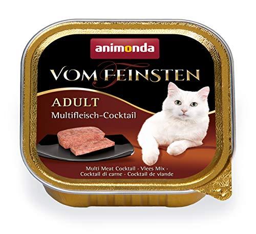animonda Vom Feinsten Adult Katzenfutter, Nassfutter für ausgewachsene Katzen, mit Multifleischcocktail, 32 x 100 g