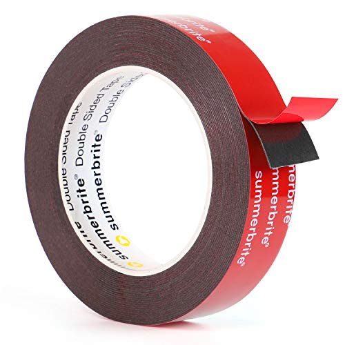 Heavy Duty Double Sided Tape, 0.94 Inch x 16 Feet Waterproof Mounting Tape Super Strong Two Sided Adhesive Foam Tape Picture Hanging Strips Thick for Walls Poster Automotive Outdoor