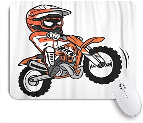 Mauspad fahrrad motocross spritzen biker motorradfahrer dirt cartoon motorrad customized art mousepad rutschfeste gummibasis für computer laptop schreibtisch schreibtischzubehör