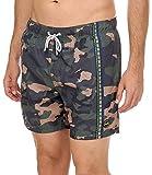 F**K Boxer da Mare EFFEK da Uomo Camouflage in Microfibra Costume da Bagno