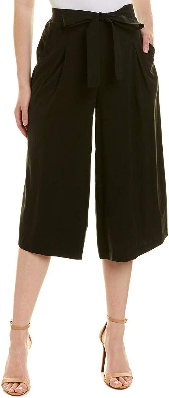 BCBGMAXAZRIA Womens Self Belted Culotte Pants