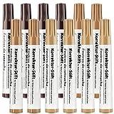 AGT Korrekturstift Möbel: 12er-Set Korrektur-Stifte für Möbel aus Holz und Furnier (Parkett Korrekturstift)