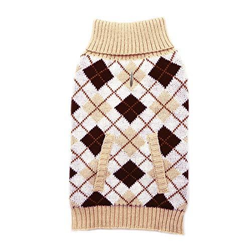 kyeese Dogs Sweaters for Small Dogs Thicken Turtleneck Doggie Sweaters with Leash Hole Knit Pullover Pet Clothes