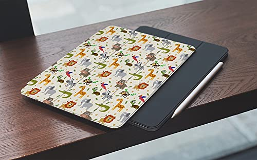 Funda para iPad 10.2 Pulgadas,2019/2020 Modelo, 7ª / 8ª generación,Africano Australiano Fauna Infantil Caras tontas Safari León Elefante Cocodrilo Smart Leather Stand Cover with Auto Wake/Sleep
