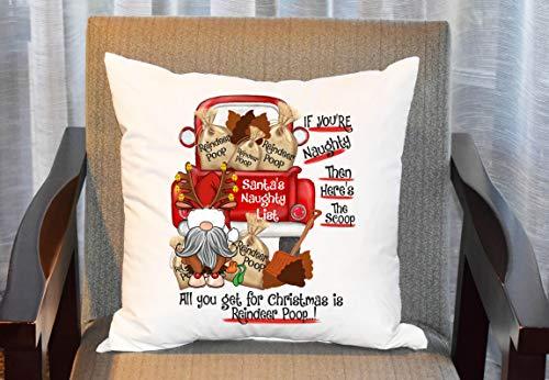 Funda de almohada de Navidad con diseño de gnomo, color rojo, para sofá de la habitación