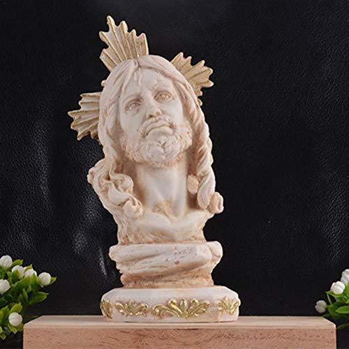 Busto de Jesús, Estatua de la Mano de Jesús, candelabro de Cristo, poliresina de mármol adherido, artesanía de Resina innovadora, decoración Interior del hogar, Regalo religioso