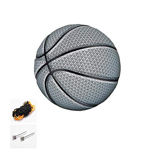 Cheapest Price! stonishi Glowing Reflective Basketball,Luminous Basketball Standard Basketball wit...