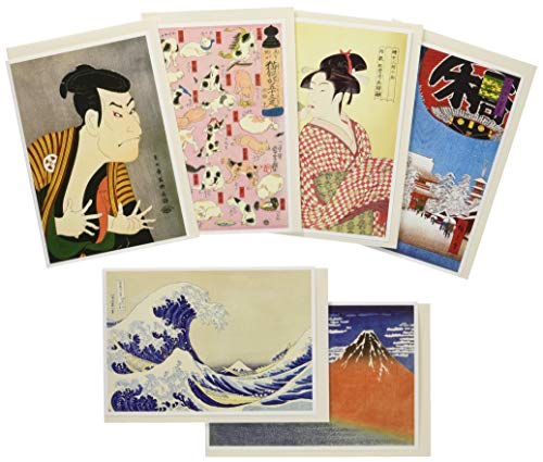 ピンナップ 人気柄 グリーティングカード 6種X2=12枚セット 浮世絵(和風クリスマス)
