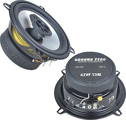 Ground Zero Lautsprecher GZRF52AL 13cm 240 Watt inkl Einbauset für BMW Z3 03/1996-05/2003 Fußraum vorne