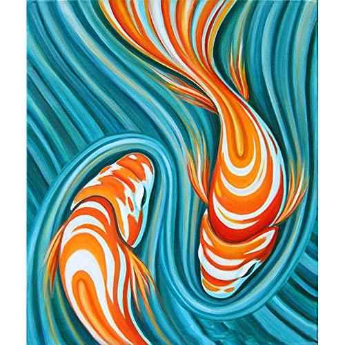 Kit de pintura de diamante para bricolaje, con diseño de ondas, 5D, perforador completo, arte de diamante, perfecto para relajarse y decoración de pared del hogar, 30 x 39,9 cm