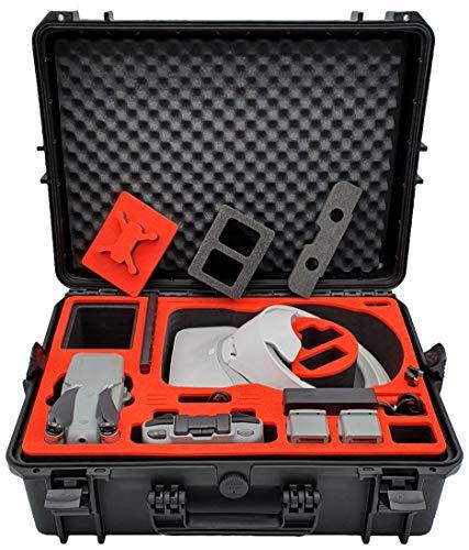 mc-cases Maletín para el dji Mavic Air 2 Pro & dji Goggles y dji Smart Remote o Control Remoto estándar