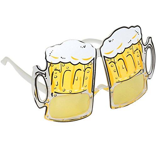 TRIXES Novedosas Gafas, Taza de Cerveza Gafas Divertido Disfraz, Despedidas de Soltero, Carnival y Festivales - Gafas para Fiestas - Gafas de Cervecero