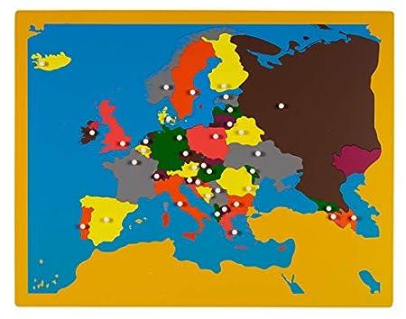 großes Europa-Puzzle - Mit Montessori-Material Europa entdecken,