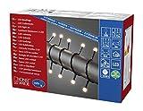 Konstsmide 3695-107 LED Globelichterkette mit kleinen runden Dioden / für Außen (IP44) / VDE geprüft / 24V Außentrafo / 160 warm weiße Dioden / schwarzes Kabel