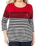 Karen Scott Sport Womens Plus Fitness Activewear T-Shirt Red 1X