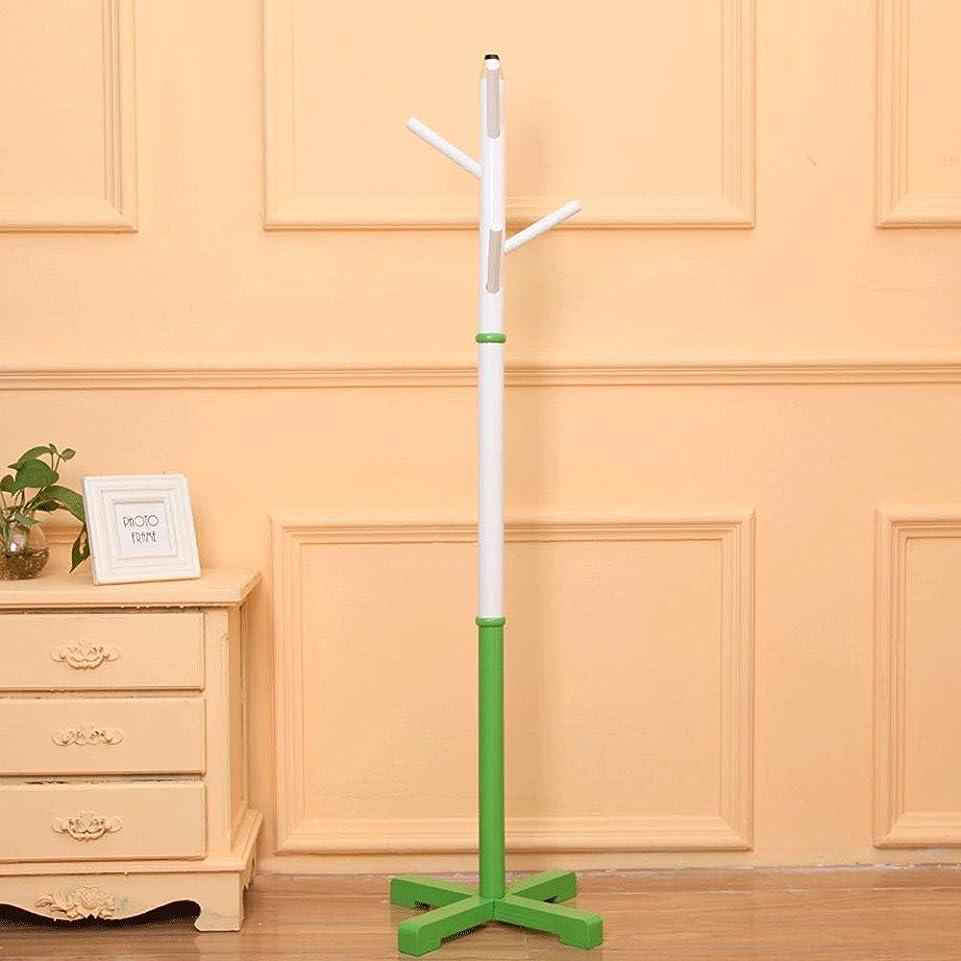 受動的コンピューターを使用するより平らな耐久性のある鉛筆形状ウッドコートラックスタンド玄関ホールツリーコートツリー用帽子服スカーフ財布 たくさんのストレージをもたらす (Color : Green, Size : 39×39×133cm)