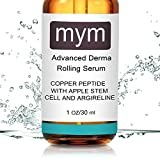 Copper Peptide Serum With Swiss Apple Stem Cell and Argireline. Boosts Collagen Production. Ideal Result Working with Derma Roller.