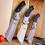 Buckshot Knives Cleaver Combo 3 PC Black Set 8' Outdoor Fixed Blade Cleaver Knife + Cleaver Assisted Open Folding + Miniature Buckshot Cleaver Folding Knife Hunting Camping (Combo 1) (Combo 1)