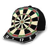 FULIYA Unisex en blanco lavado de perfil bajo sombrero de algodón para papá gorra de béisbol Dardo Board Números Deportes Precisión Objetivo de Tiempo Ocio Gráfico