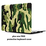 MacBook Air 13 Case Cover – Treasure21 Slim fit Smart Protection Soft Rubber Coating Smooth Better Grip Hard case Shell Cover for MacBook Air 13 A1369 A1466 (Camo)