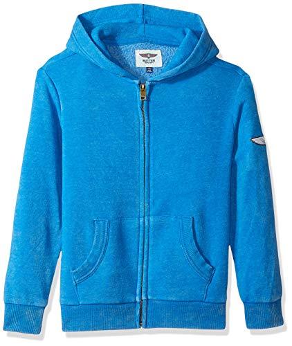 Butter Boys' Big Mineral Wash Fleece Zip Up Hoodie, Skydiver, XL