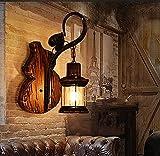Lampara Pared,Vela Apliques de pared Iluminación industrial vintage Lámpara de pared Apliques de jaula de metal rústico Aplique de pared interior para el hogar Aplique de iluminación retro Aplique