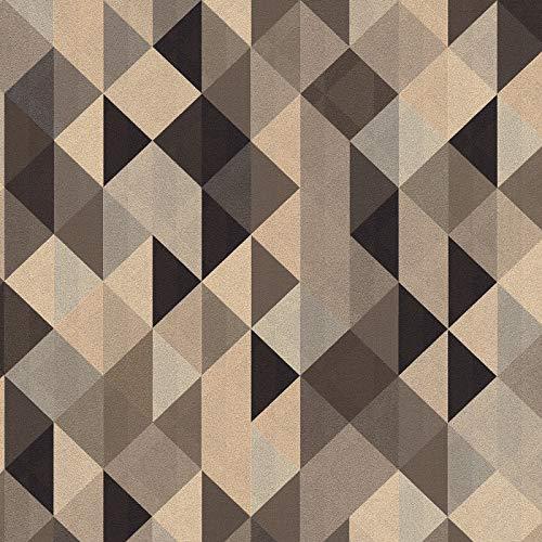 Vliestapete Vintage-Tapete 367864 36786-4 A.S. Création Scandinavian 2   Schwarz/Anthrazit Silber Braun   Muster (21 x 29,7 cm)