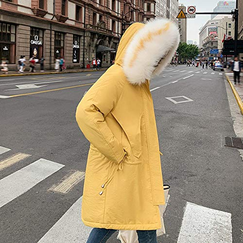WFSDKN dames parka bontkraag mantel vrouwen winter jassen donzen katoen capuchon mantel plus grootte parka plus fluweel mantel lange mantel mode vrouwelijk