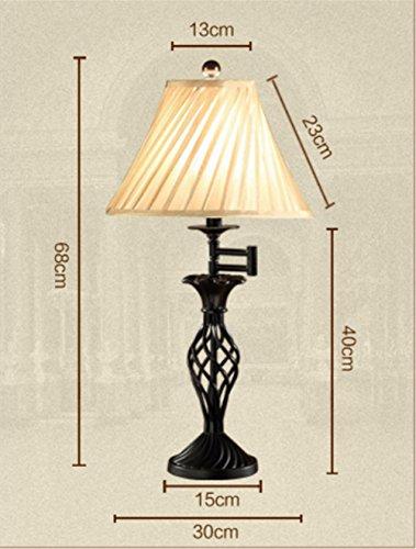 Vintage bird cage lamp fabric fabric Bedside, Bedroom, Bathroom, Hallway, Kitchen Desk lamp Desk Light