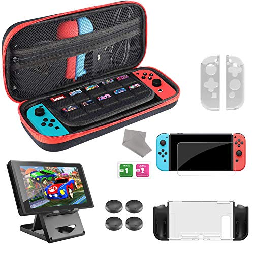 Diswoe Accessories for Nintendo Switch - Goods Nintendo Switch Case, Hard Carrying Case/Protective Case for Switch