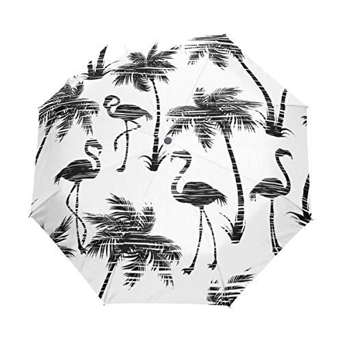 SUHETI Regenschirm Taschenschirm,Westliche alte amerikanische Emaille Kaffeetasse und Weinlese Topf mit traditionellen Arbeitscowboy Werkzeugen,Auf Zu Automatik,windsicher,stabil