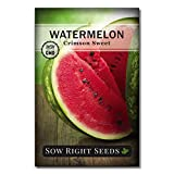 Sow Right Seeds - Crimson Sweet Watermelon Seed for Planting - Non-GMO Heirloom Packet with Instructions to Plant a Home Vegetable Garden - Great Gardening Gift (1)