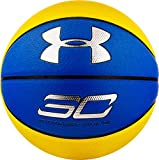 Under Armour Steph Curry compuesto baloncesto, azul marino/amarillo, oficial