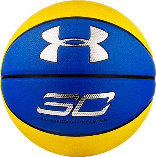 Under Armour Herren Curry Composite Ball, Royal/Taxi/Metallic Silver (400), 7