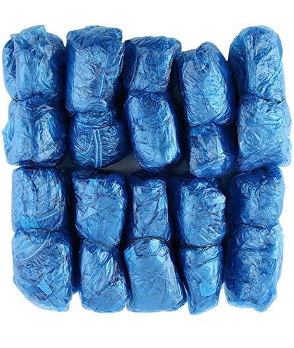 DOC PESHOE Copriscarpe in Polietilene Azzurro, 100 Pezzi