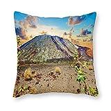 Viowr22iso Fundas de almohada decorativas de 22 x 22, Teide Volcán Tenerife Islas Canarias, funda de almohada para decoración del hogar para sofá cama silla
