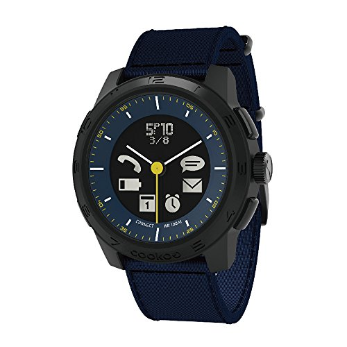 BLUETREK Cookoo 2a generazione analogica Bluetooth-Permesso di Smart Watch (blu)