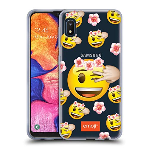 Head Case Designs Officially Licensed Emoji Wink Patterns 4 Soft Gel Case Compatible with Samsung Galaxy A10e (2019)