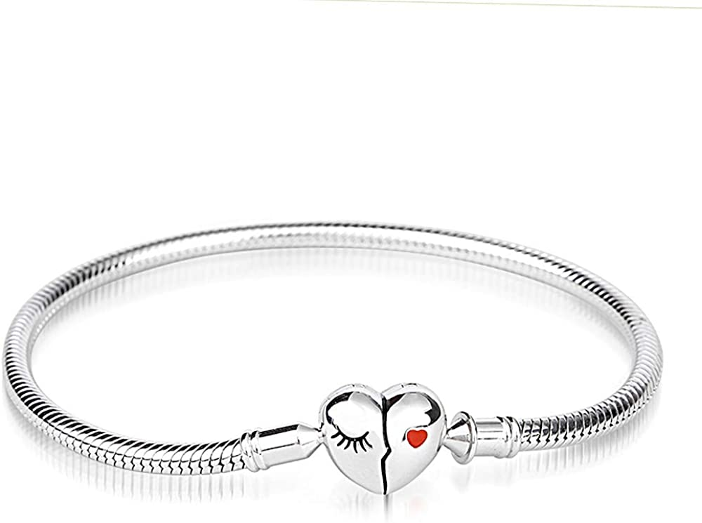 OFFicial GNOCE Charm Bracelet Sterling Silver Chicago Mall Chain Love Your Smile Snake