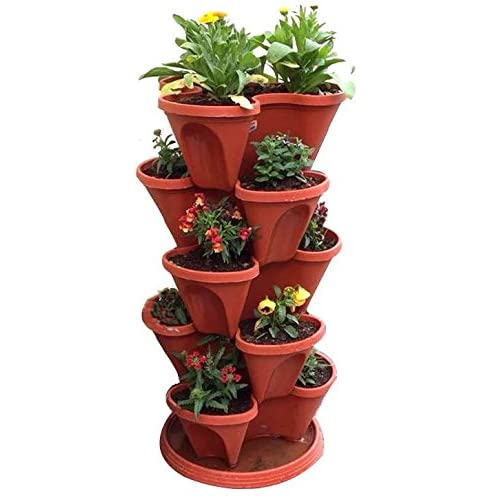 Vgreen Garden Store Stack A Pot Floor Set Of 7 (6 Pot + 1 Bottom Tray)