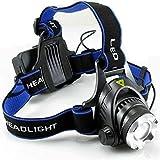 VIKINGS Hands Free Rechargeable Head Flashlight Water Resistant Drop Resistant Head Lamp Spotlight