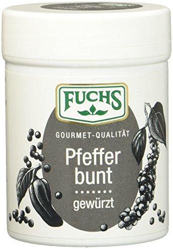 Fuchs Bunter gewürzter Pfeffer mit Paprika Pfeffer-Mix Gewürzmischung gemahlen, aus grünem, weißem und schwarzem Pfeffer, perfekt zum Grillen, 3er Pack (3 x 60 g)