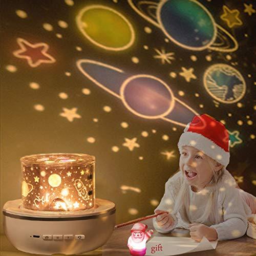 Sternenhimmel Projektor Lampe, Kinder LED Nachtlicht Baby Sterne Lampe 6 Projektionsfilmen 360 ° Drehbar für Geburtstage, Weihnachtsgeschenke, Kinderzimmer Dekoration