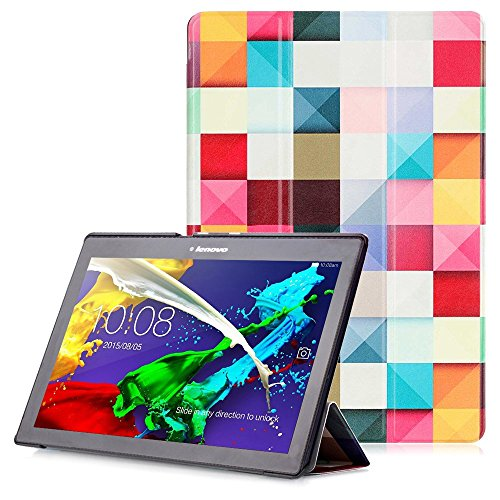 Lenovo Tab 2 A10 / Tab 3 10 Case - Smart Cover with Auto Wake / Sleep Function for Lenovo Tab 2 A10-30 / Tab 2 A10-70 / Tab 3 10 Plus / Tab 3 10 Business / Tab 3 10.1 Inch Tablet, Fancy Cube