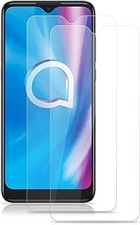 ROVLAK skärmskydd för Alcatel 1S 2020 härdat glas skärmskydd 2-pack HD 2,5D 9H skyddande filmskydd anti-fingeravtryck bubb...