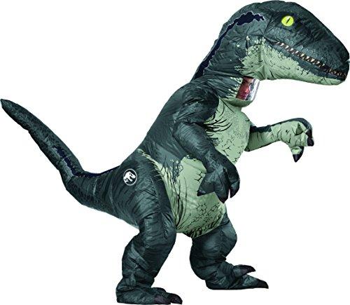 Jurassic World - Disfraz Hinchable de dinosaurio Velociraptor para dulto, Talla única (Rubie