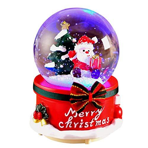 WANGW Bola De Nieve Navidad, Caja De Música De Bola De Nieve Navideña, Globos De Nieve Bolas De Cristal con Nieve, Decoración De Navidad, Regalo De Cumpleaños para Niñas